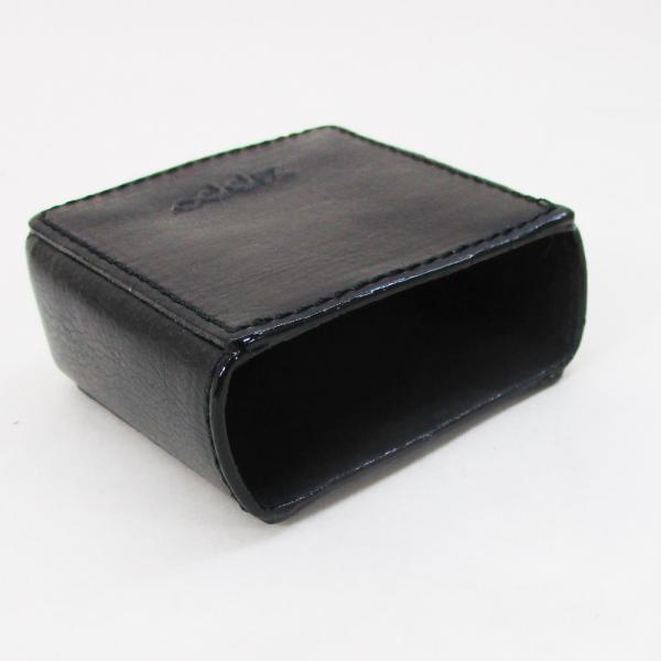 シガレットケース ジッポー 革製タバコケース 米国ZIPPO社 黒 ブラック/送料無料メール便  箱無し ポイント消化