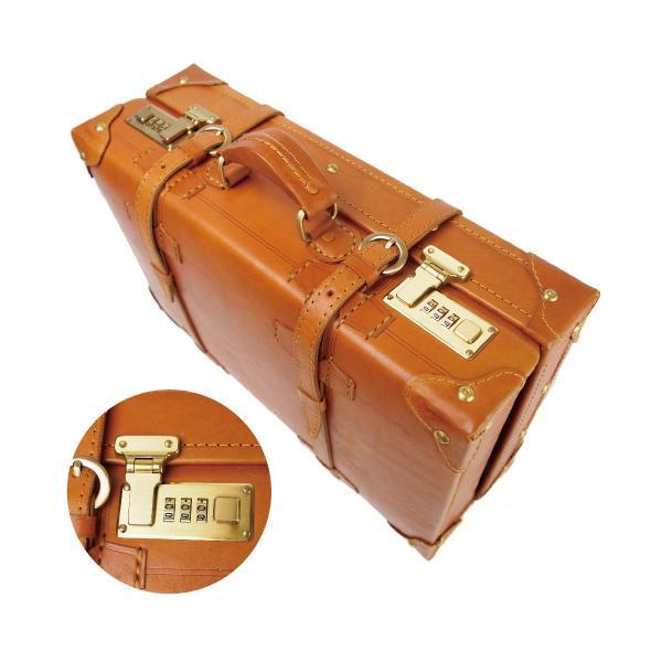 トランクケース 40cmサイズ ヌメ革 本体 本革 牛革 A4対応 ビジネス ハンドメイド ベジタブルタンニンなめし|kawanobag|06