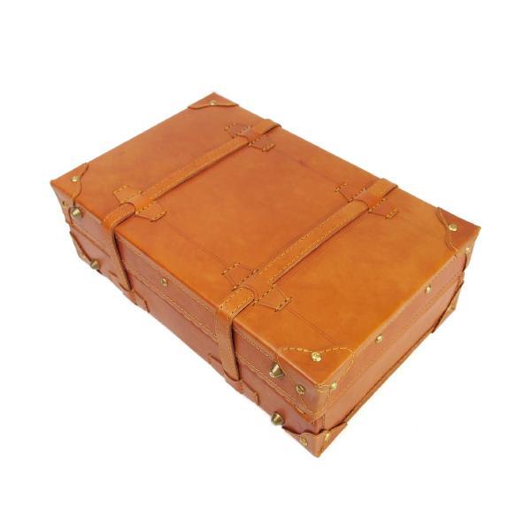 トランクケース 40cmサイズ ヌメ革 本体 本革 牛革 A4対応 ビジネス ハンドメイド ベジタブルタンニンなめし|kawanobag|07