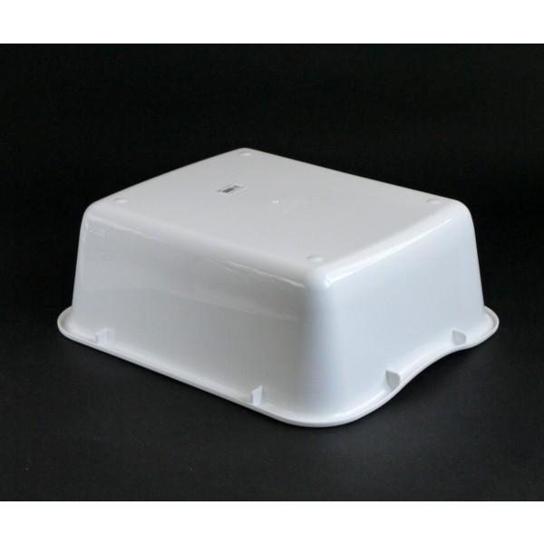 水切りケース 35×29×高さ12cm マットホワイト|kawauchi|03