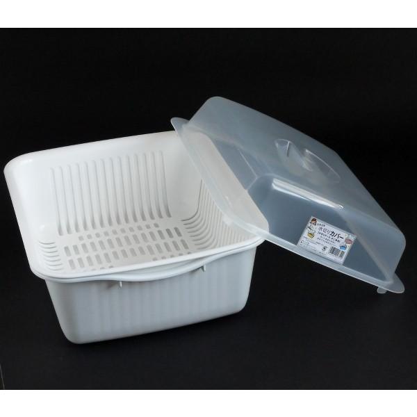 水切りケース 35×29×高さ12cm マットホワイト|kawauchi|05