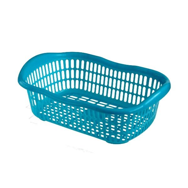 洗濯かご 44.2×30.1×高さ14.8cm マットブルー|kawauchi