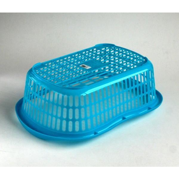 洗濯かご 44.2×30.1×高さ14.8cm マットブルー|kawauchi|03