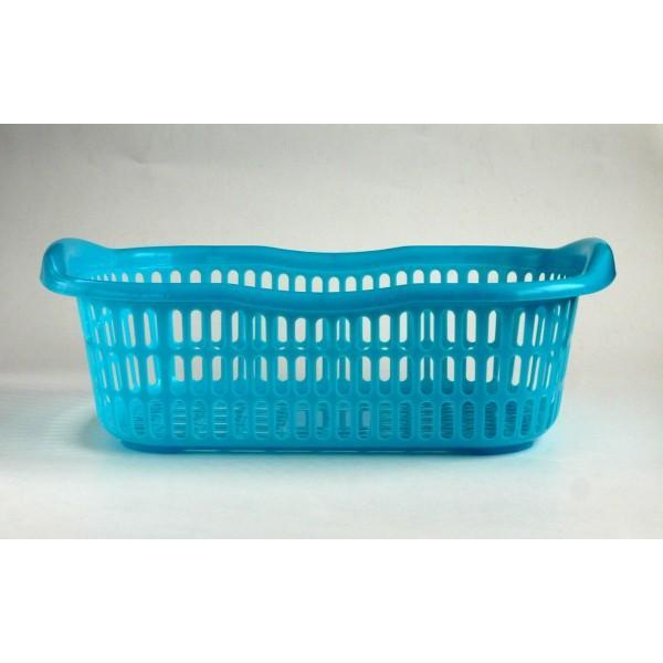 洗濯かご 44.2×30.1×高さ14.8cm マットブルー|kawauchi|04
