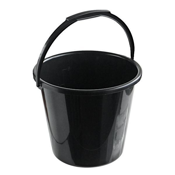 バケツ 容量10L ブラック
