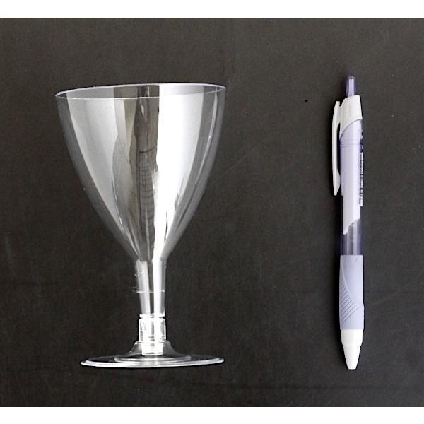 ワイングラス プラスチック製 満量180ml クリア 5個入|kawauchi|02