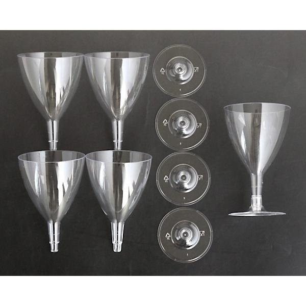 ワイングラス プラスチック製 満量180ml クリア 5個入|kawauchi|11