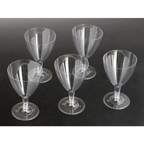 ワイングラス プラスチック製 満量180ml クリア 5個入|kawauchi|12
