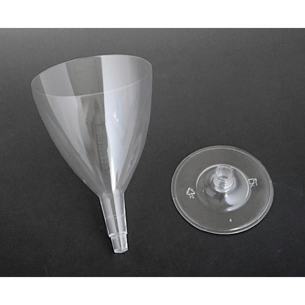 ワイングラス プラスチック製 満量180ml クリア 5個入|kawauchi|08
