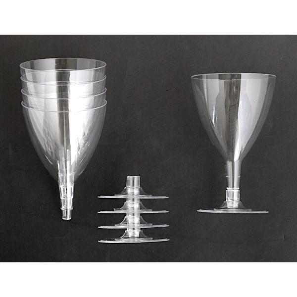 ワイングラス プラスチック製 満量180ml クリア 5個入|kawauchi|10