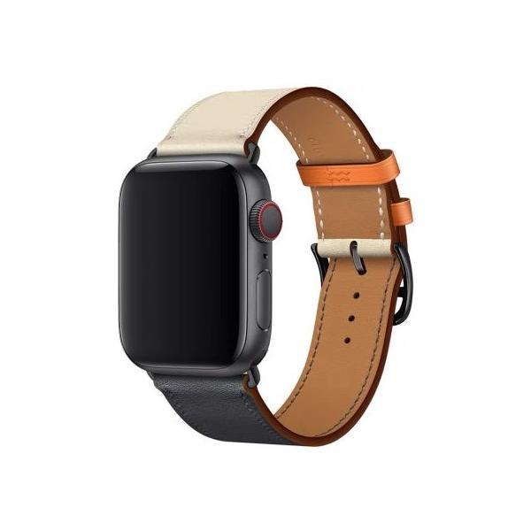 kawauso PUレザー apple watch バンド  42mm-44mm 互換アップルウォッチ Series 5/4/3/2/1  アップルウォッチ PUレザー2色カラー|kawauso|03