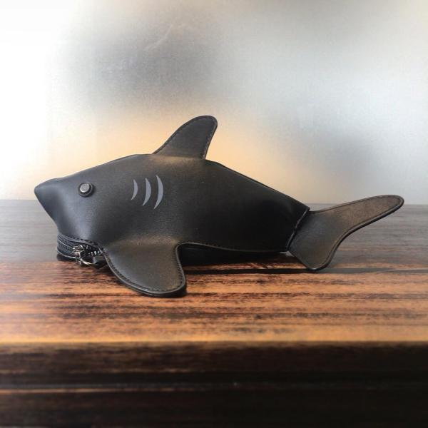 kawauso 立体 鮫 ジョーズ レディースバッグ ショルダーバッグ(黒・白・紺)|kawauso|04