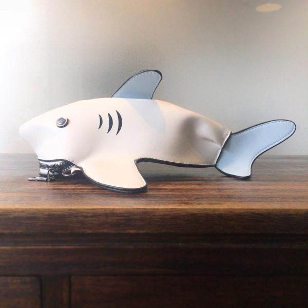 kawauso 立体 鮫 ジョーズ レディースバッグ ショルダーバッグ(黒・白・紺)|kawauso|05