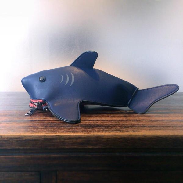 kawauso 立体 鮫 ジョーズ レディースバッグ ショルダーバッグ(黒・白・紺)|kawauso|06
