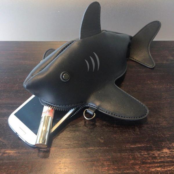 kawauso 立体 鮫 ジョーズ レディースバッグ ショルダーバッグ(黒・白・紺)|kawauso|10