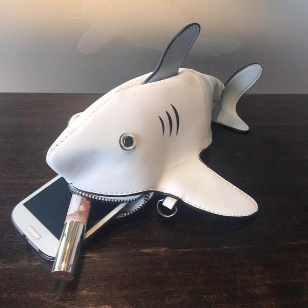 kawauso 立体 鮫 ジョーズ レディースバッグ ショルダーバッグ(黒・白・紺)|kawauso|11