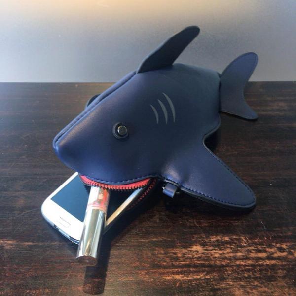kawauso 立体 鮫 ジョーズ レディースバッグ ショルダーバッグ(黒・白・紺)|kawauso|12