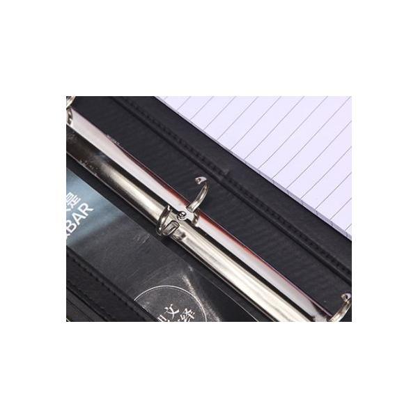 kawauso 合皮レザー大きめサイズ A4 ルーズリーフ 手帳型 4穴 ビジネス ペン挿し 収納(紫・青・黒・茶色) kawauso 13