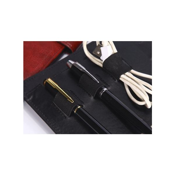kawauso 合皮レザー大きめサイズ A4 ルーズリーフ 手帳型 4穴 ビジネス ペン挿し 収納(紫・青・黒・茶色) kawauso 14