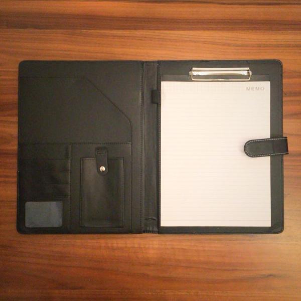 kawauso 手帳型 バインダー A4 PUレザー 多機能 iphone スマホ アンドロイド 収納付 メモ(黒・茶色・ピンク)|kawauso|11