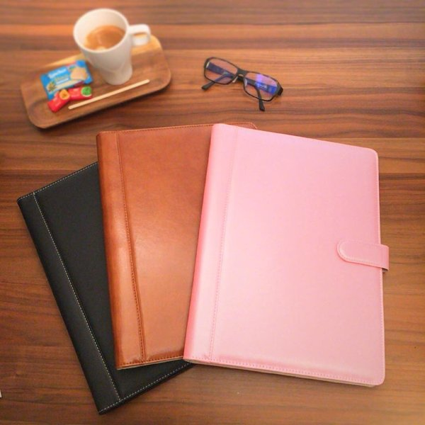 kawauso 手帳型 バインダー A4 PUレザー 多機能 iphone スマホ アンドロイド 収納付 メモ(黒・茶色・ピンク)|kawauso|13