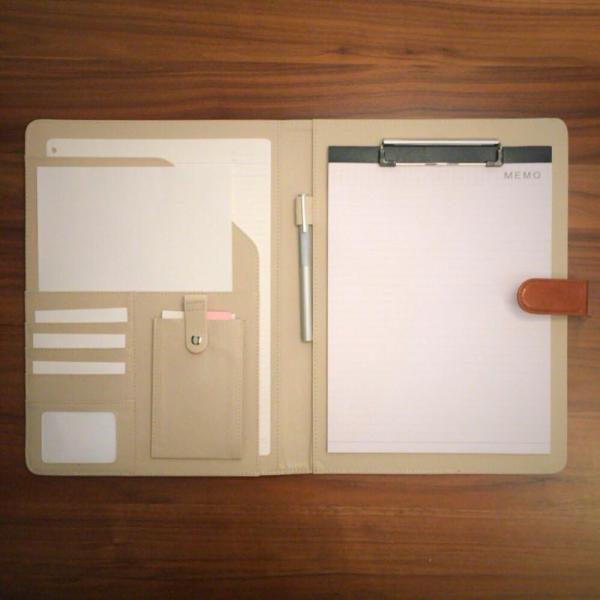 kawauso 手帳型 バインダー A4 PUレザー 多機能 iphone スマホ アンドロイド 収納付 メモ(黒・茶色・ピンク)|kawauso|10