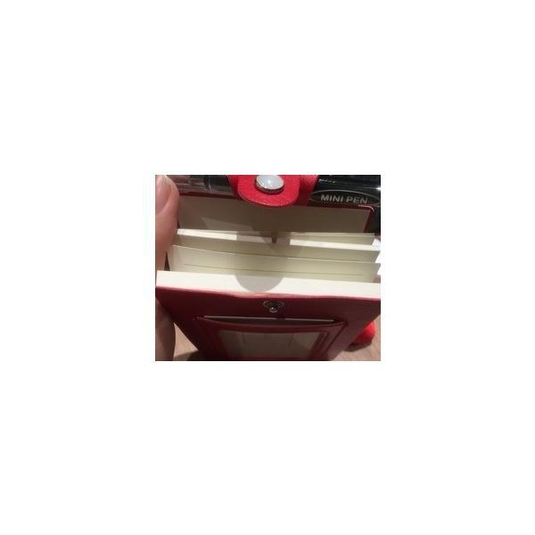 ID カードホルダーA7 ネックストラップ メモ帳  社員証 パスケース TODO(黒・茶色・赤) kawauso 11