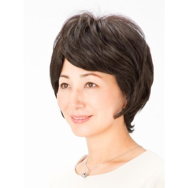 ウィッグ ヘアピース 安い 白髪隠し ストレート プリシラ ミセス総手植えカバーピースC-001