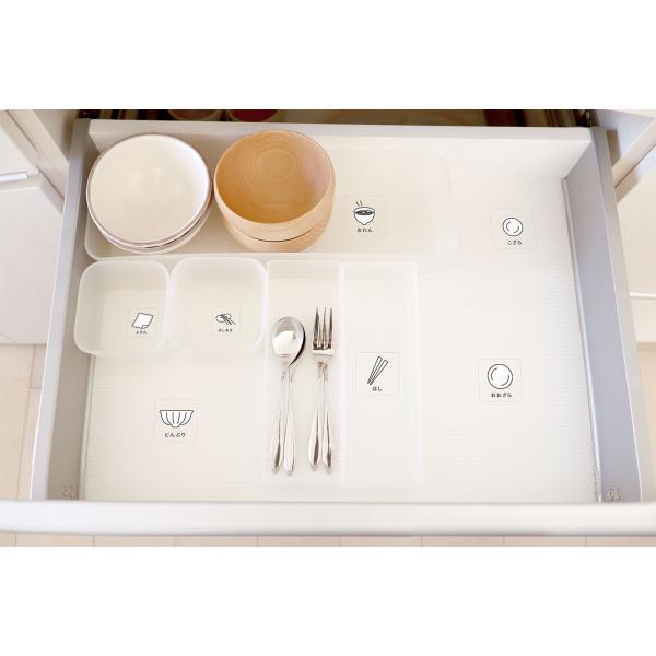 キッチンが綺麗に片づく食器めじるしシール 整理 収納 ステッカー 台所 目印 ラベル|kazokushuno|04