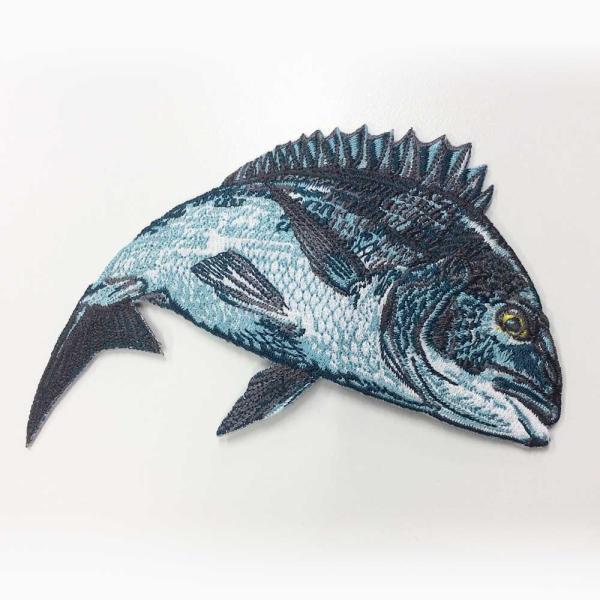 魚ワッペン大 クロダイ3