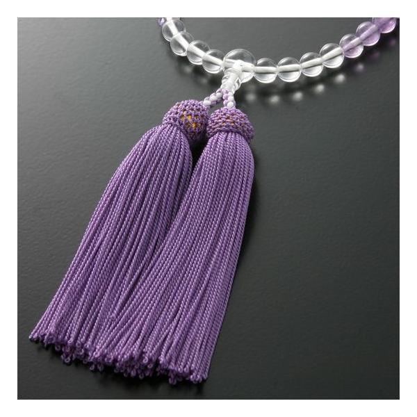 数珠 女性用 グラデーション 紫水晶 念珠袋付き W-063 kb-hayashi 02