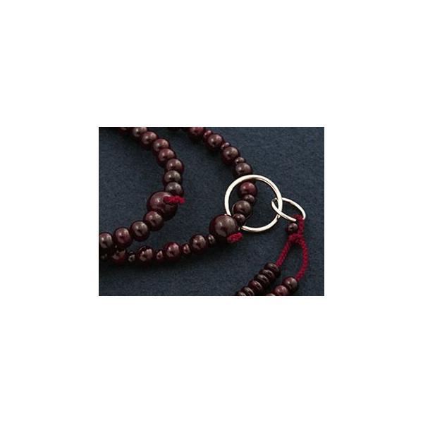 数珠 女性用 浄土宗 二連 紫檀 本式数珠 念珠袋付き SW-001 kb-hayashi 02