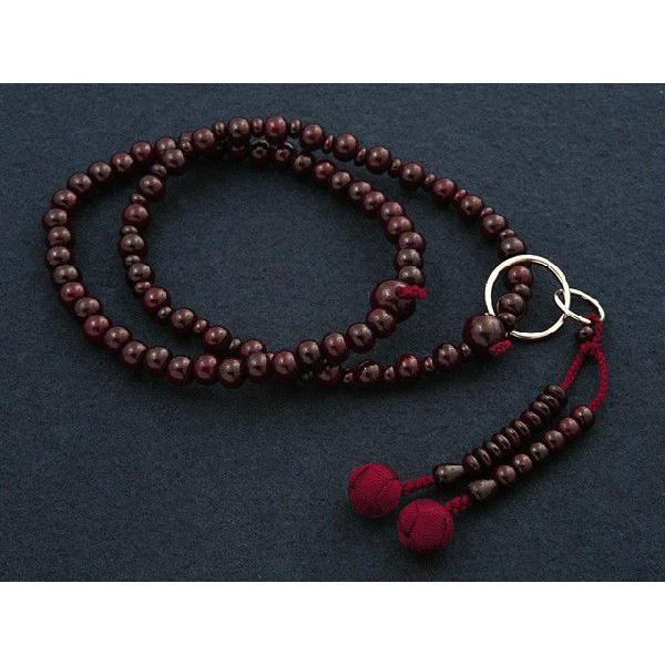 数珠 女性用 浄土宗 二連 紫檀 本式数珠 念珠袋付き SW-001 kb-hayashi 03