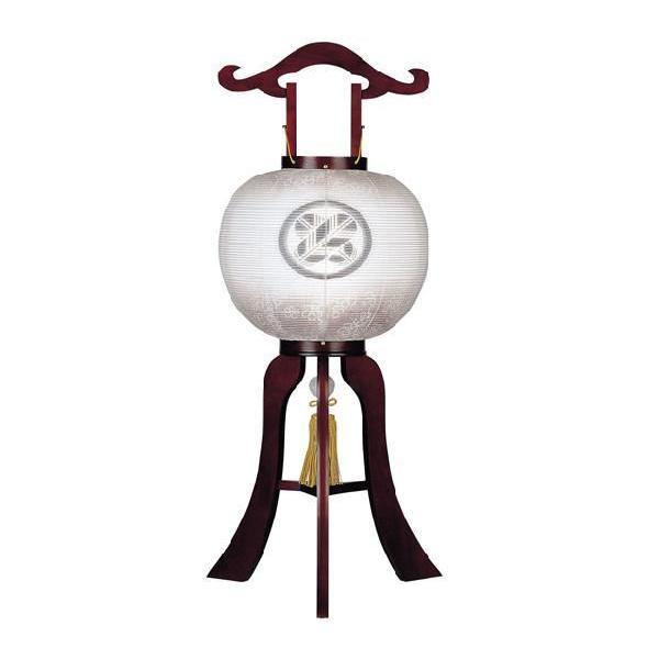 盆提灯 盆ちょうちん お盆提灯 家紋入り提灯 万葉 11号 本桜(木製) 極太 ネジ式|kb-hayashi|02