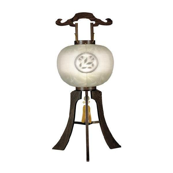 盆提灯 盆ちょうちん お盆提灯 家紋入り提灯 万葉 12号 タモ(木製) 極太 ネジ式 kb-hayashi 02
