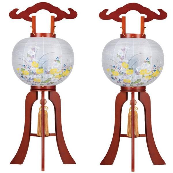 盆提灯 盆ちょうちん 一対入り 回転灯付き木製提灯 華のケヤキ 9号 ( 大内 ・ 回転兼用 )|kb-hayashi|02