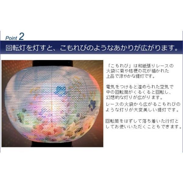 【一対入り】盆提灯 盆ちょうちん お盆提灯 回転灯付き提灯 回転 こもれび 11号(PC製)2475|kb-hayashi|07