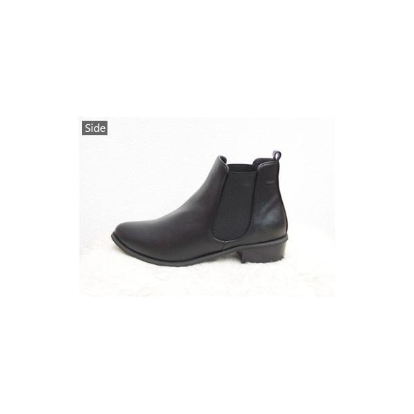 送料無料 サイドゴア ショートブーツ 靴 レディース オトナ女子