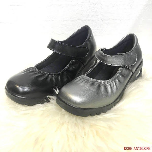 送料無料 マジックベルト ラウンドトゥ ソフトクッション ラクチン 靴 レディース