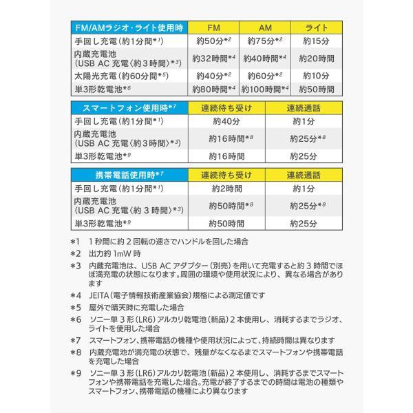 ソニー【ワイドFM対応】ソーラー&手回し充電ラジオ|kbcshop|10