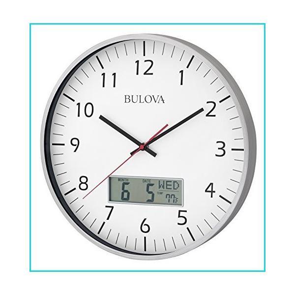 BulovaC4810マネージャー壁掛け時計シルバー 並行輸入品