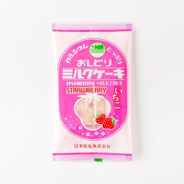 おしどりミルクケーキ(いちご味) 食べる牛乳 (東北 山形 お土産 お菓子 銘菓 駄菓子 日本製乳)