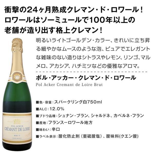 スパークリングワイン セット 第126弾 ベスト オブ スパーク 当店厳選 高級クレマンも入った極旨…|kbwine|02