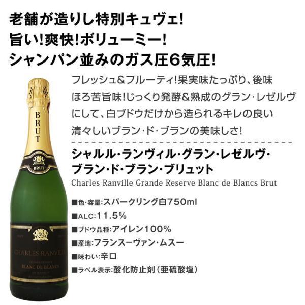 スパークリングワイン セット 第126弾 ベスト オブ スパーク 当店厳選 高級クレマンも入った極旨…|kbwine|03