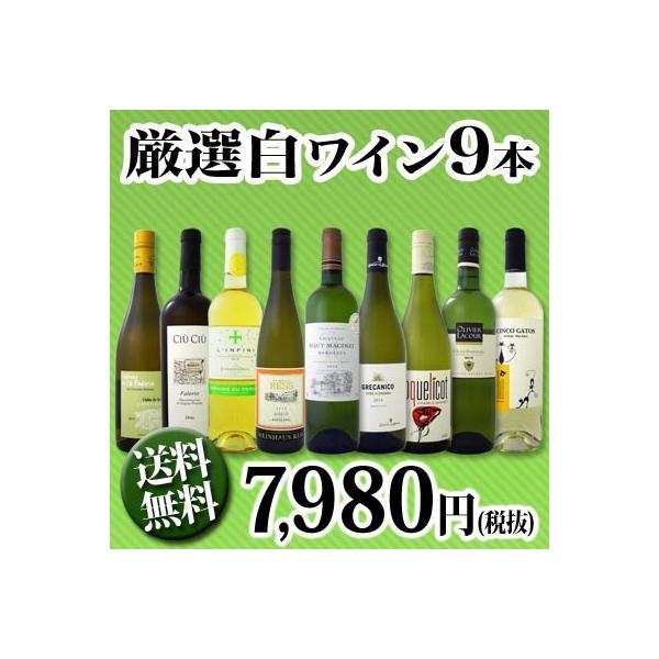 ワインセット 第3弾 超特大感謝 スタッフ厳選 の激得白9本7,980円(税別)セット wine|kbwine