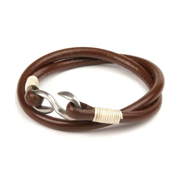 Kc s s hook double bracelet brown