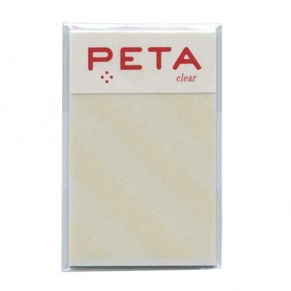 PETA/ペタ のり付箋 clear Sサイズ イエロー/スラッシュ  1736275