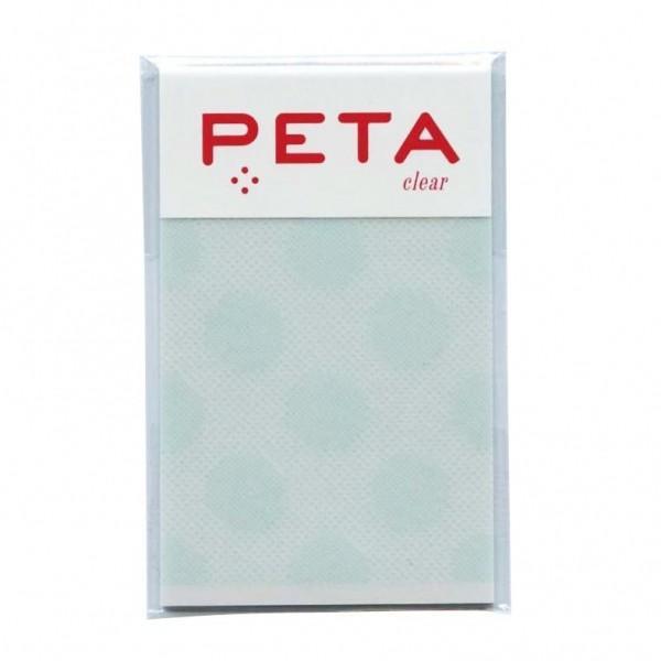 PETA/ペタ のり付箋 clear Sサイズ グリーン/バブル  1736280