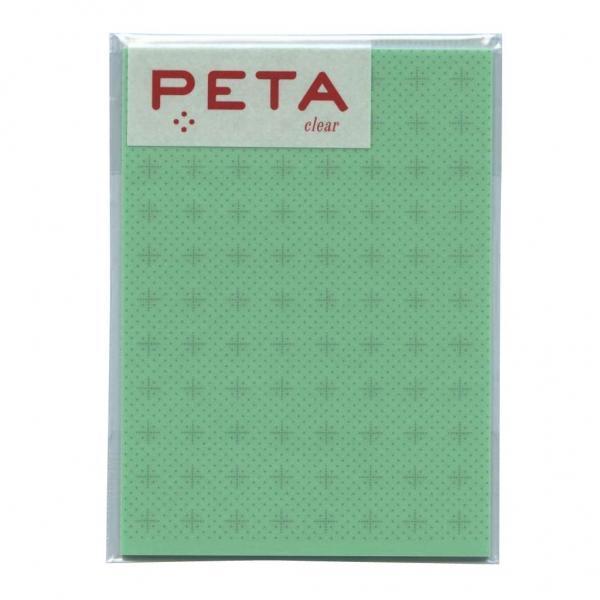 PETA/ペタ のり付箋 clear Lサイズ グリーン/クロスライン  1736366