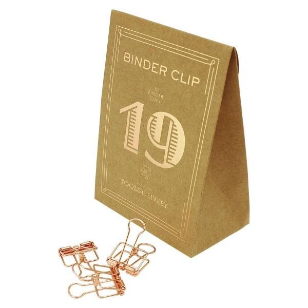 BINDER CLIP/バインダークリップ 19 TTLB ローズゴールド  TL018-RGD